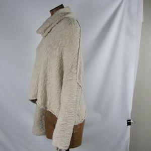 Free People Sweaters - Free People Cream Big Easy Cowl Neck Crop Sweater